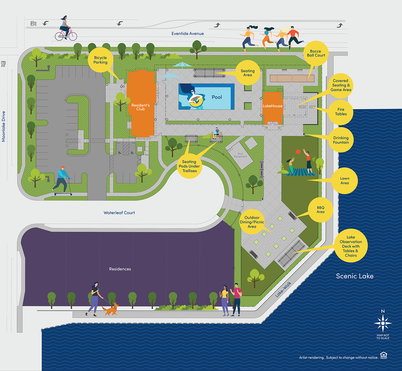 The Resident's Club & LakeHouse Site Map at Northlake